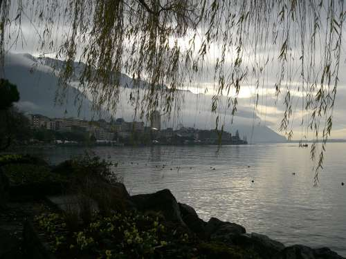 Montreaux Lake Geneva Lake Leman Switzerland