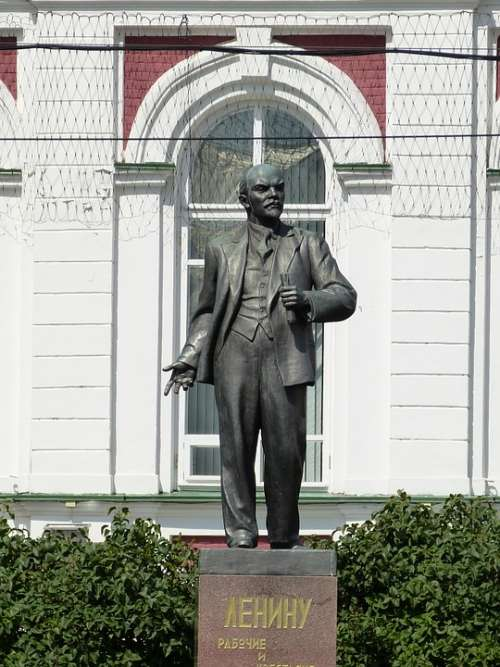 Monument Lenin Russia Historically Statue