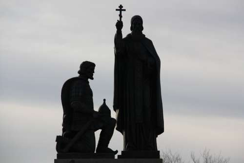 Monument Russia Memorial Kulikovo Field Clouds