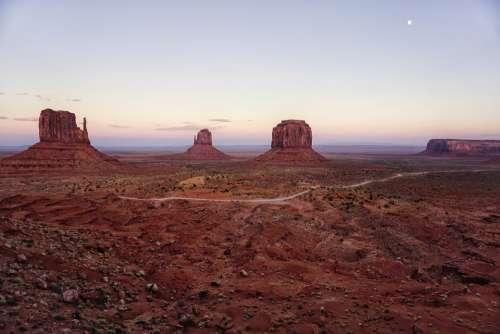 Monument Valley Usa Arizona Desert Landscape