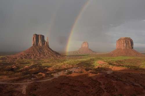 Monument Valley Utah Arizona Monoliths Rainbow