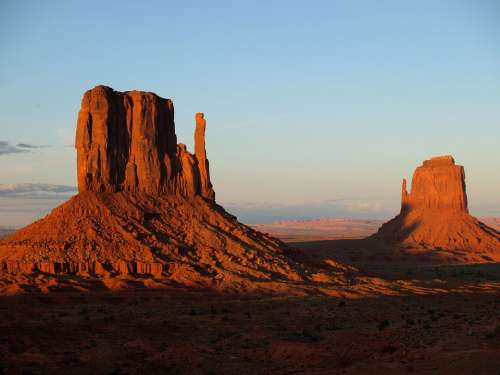 Monument Valley Utah Usa Red Red Rocks Erosion