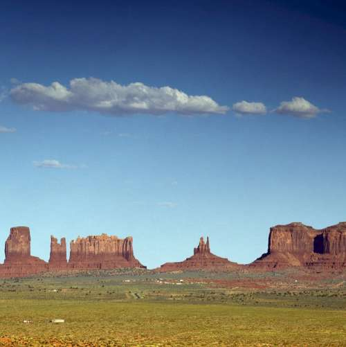 Monument Valley Sandstone Buttes Arizona Desert