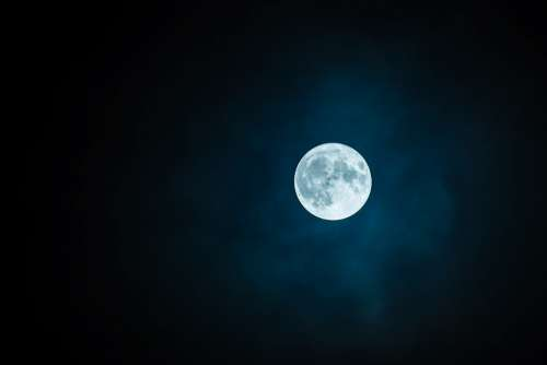 Moon Full Moon Sky Nightsky Lunar Moonlight View