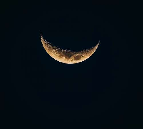 Moon Waning Sky Space Bright