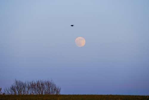 Moon Sky Space Blue Landscape Atmosphere Nature