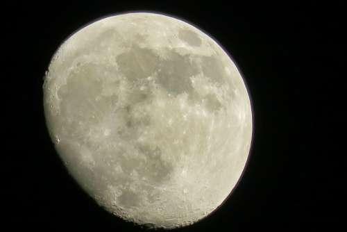 Moon Luna Sky Night Lunar Crescent