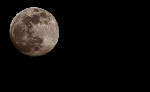 Moon Full Moon At Night Moonlight Astronomy Sky