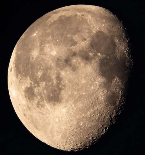 Moon Slimming Illuminated Ache Dark Night Sky