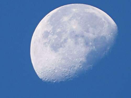 Moon Daytime Moon Sky Silver Moon Sky And Moon
