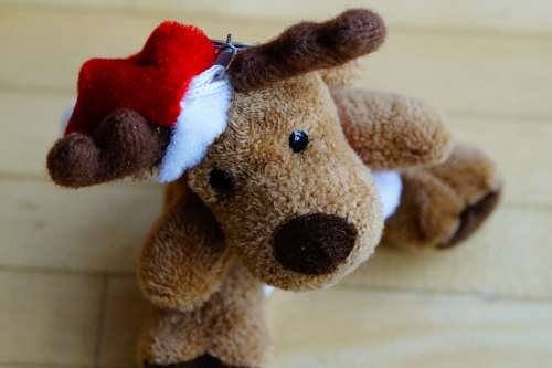 Moose Reindeer Christmas Mascot Soft Toy