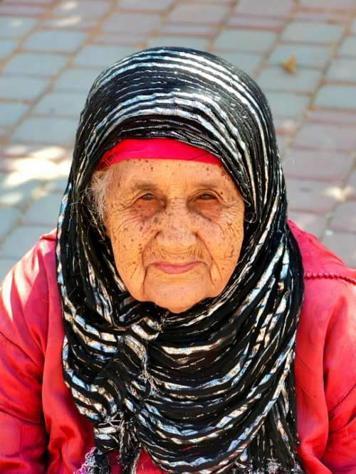 Morocco Senior Elderly Woman Travel Beauty