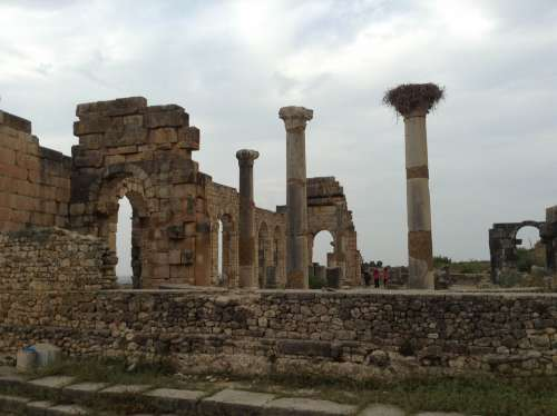 Morocco Volubilis Roman Historical Tourism