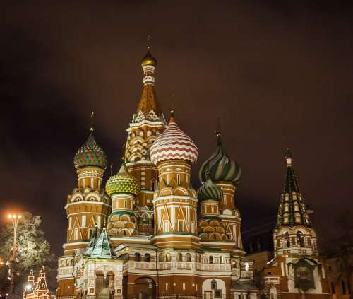 Moscow Cathedral Monument Russia The Kremlin