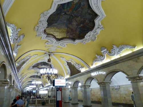Moscow Russia Capital Historically Metro Subway