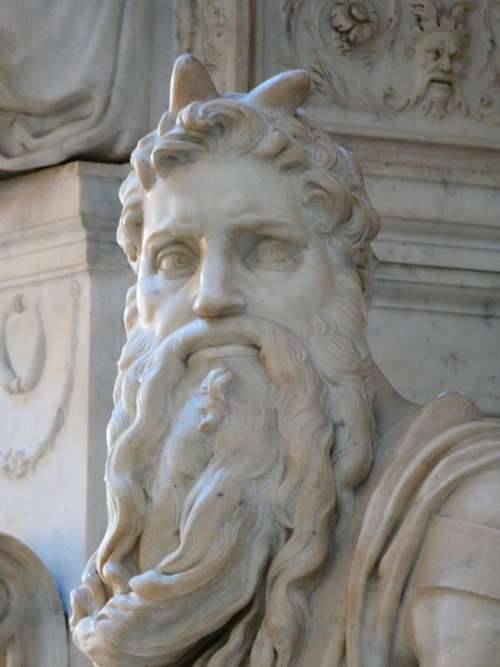 Moses Horned Statue San Pietro In Vincoli Rome