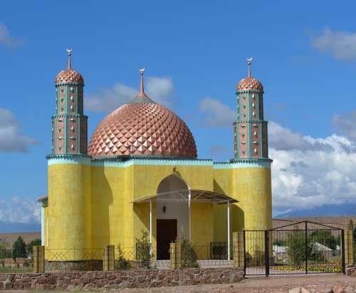Mosque Kyrgyzstan Dome Islam