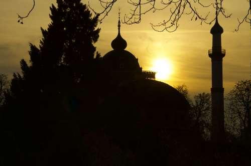 Mosque Minaret Schwetzingen Schlossgarten Castle