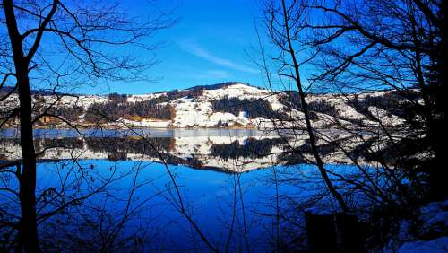 Most Lake Silent Nature Spring Blue Switzerland