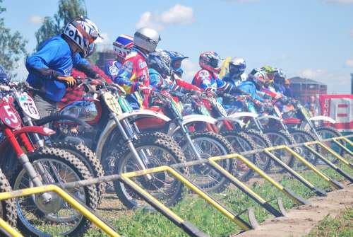 Motocross Enduro Start