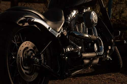 Motorcycle Harley Davidson Harley Motorbike Chrome