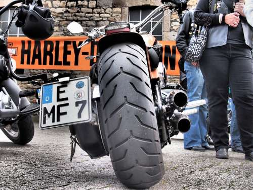 Motorcycle Mature Exhaust Harley Harley Davidson
