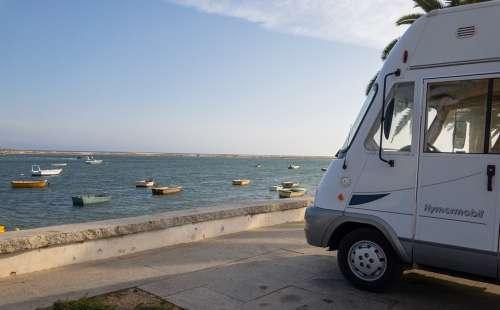Motorhome Boats Portugal Sea Rv Van Waves Bay