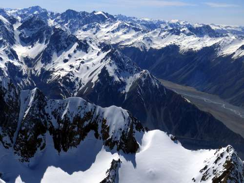 Mount Cook New Zealand Southern Alps Nature Snow