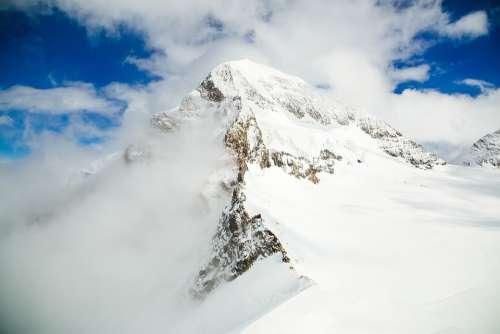 Mountain Snow Landscape Nature Cold Peak Scenery