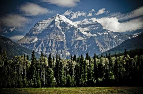 Mountain Mount Robson Peaks Mountain Range