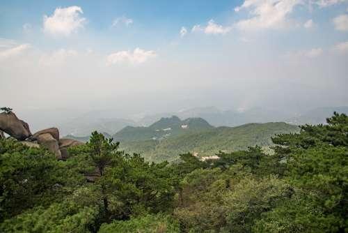 Mountain Tianzhu Mountain Cloud Day The Scenery