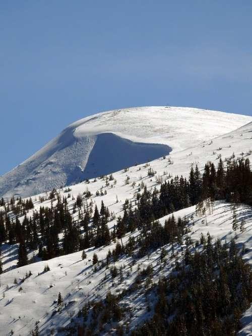 Mountain Snow Loose Snow Avalanches Alpine Winter