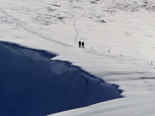 Mountain Winter Hiking Snow Nature Cornices White