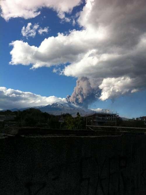 Mountain Etna Smoke Ash