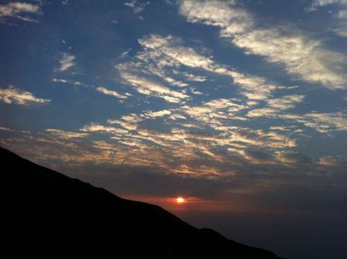 Mountain Clouds Dawn Landscape