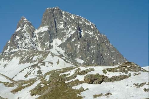 Mountain Top Portalet Huesca Pyrenees