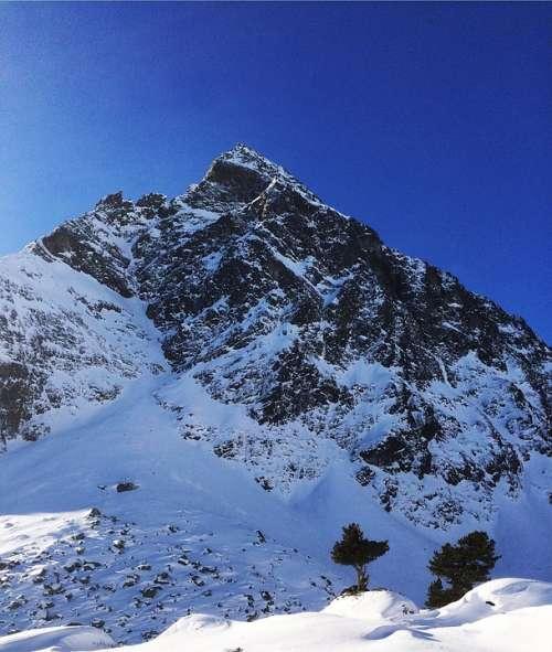 Mountain Montafon Silvretta Austria Winter