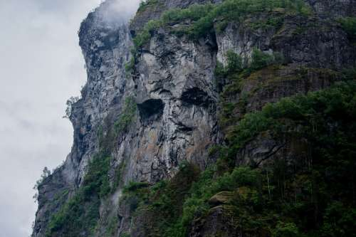 Mountain Side Cliff Nature Rock Landscape Scenic