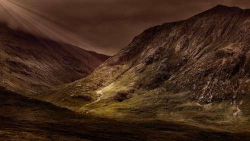 Mountains Panorama Landscape Massif Outlook Mood
