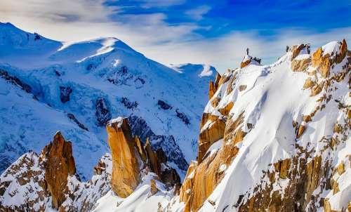 Mountains Cosmiques Ridge Mountaineering
