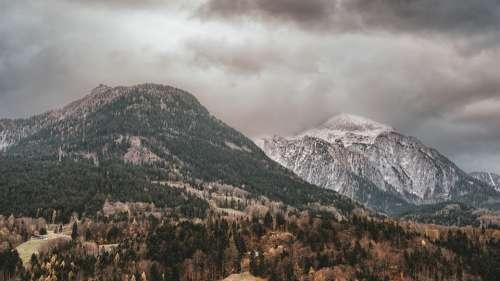 Mountains Alpine Berchtesgaden Bavaria Background