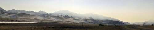 Mountains Winter Landscape Nature Cold Mongolia