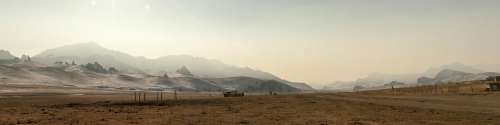 Mountains Haze Winter Road Dirt Road Countryside