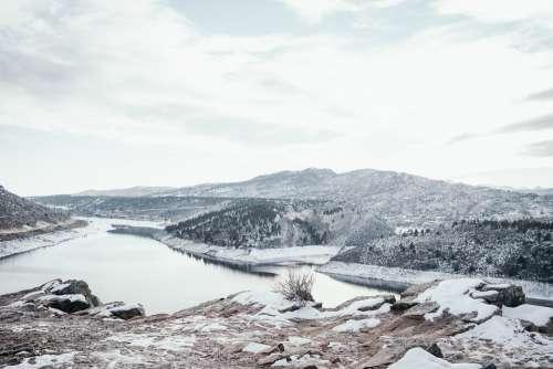 Mountains Winter Lake Colorado