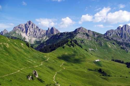 Mountains Panorama Alpine Nature Hiking Landscape