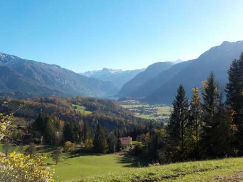 Mountains Landscape Lake Thatch Dachstein Austria