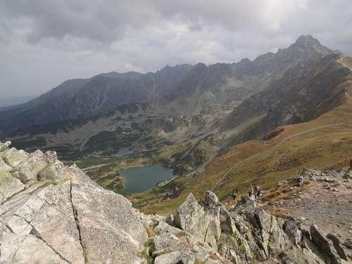Mountains Rocks Lake View Landscape Nature