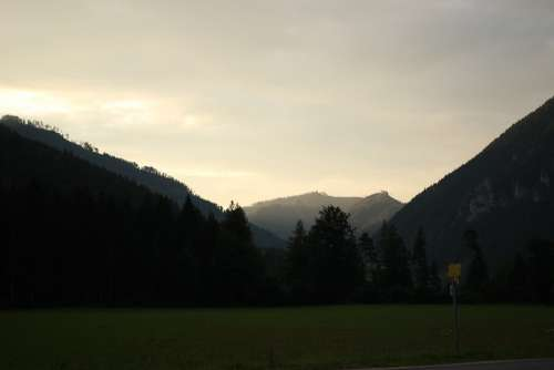 Mountains Alpine Sunset Austria