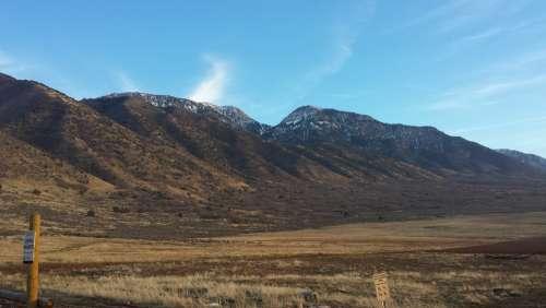 Mountains Utah Landscape Nature Outdoor Hiking
