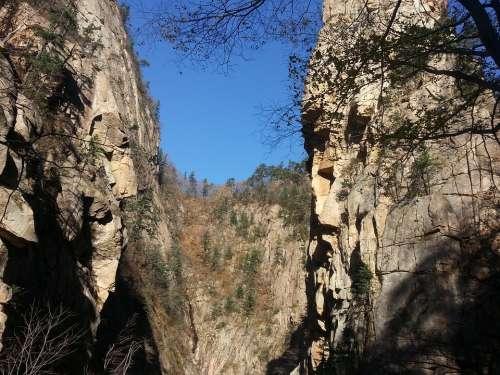 Mt Seoraksan Rock Climbing Landscape